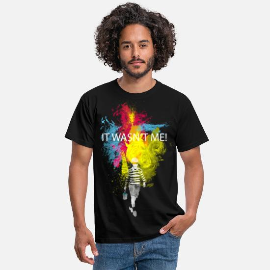 Coole T-Shirts - it wasn't me - Männer T-Shirt Schwarz
