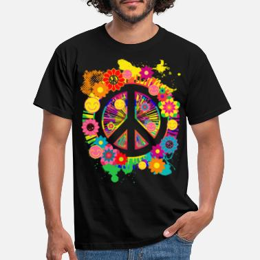 Vrede Peace Sign Hippie 70's Giftitem - Mannen T-shirt