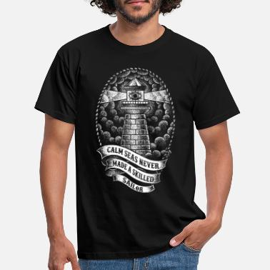 Lighthouse Lighthouse seafaring seafarers shipping harbor - Men's T-Shirt