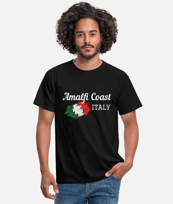 Wine T-Shirts - Amalfi Coast Italy Cool Travel Souvenir - Men's T-Shirt black