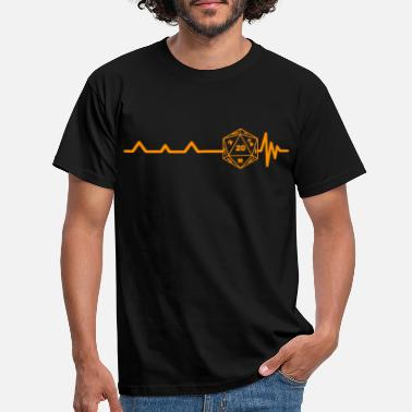 Pen Heartbeat Pen og Paper RPG Terninger orange gaver - T-shirt mænd