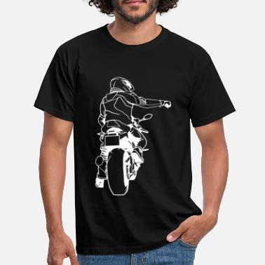 Motorcycle Racing Motorbike bike motor scooter fire chair machine racing - Men's T-Shirt