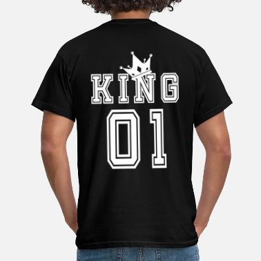 King Queen Valentine's Day Matching Couples King Jersey - T-shirt mænd