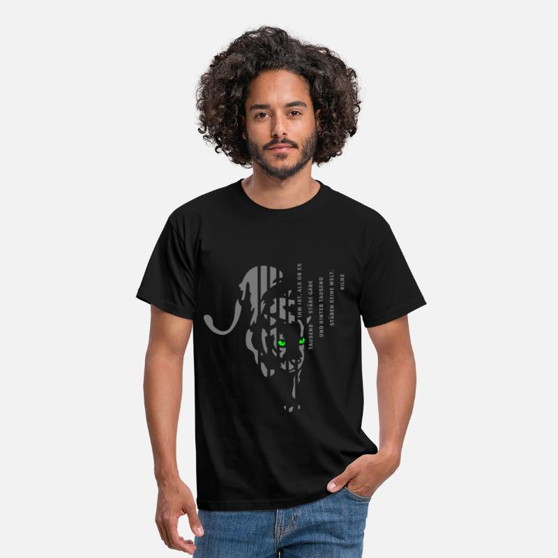 Panther T-Shirts - Panther von Rilke - Men's T-Shirt black