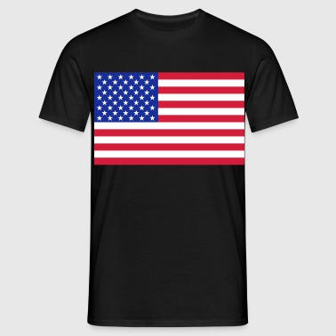 usa flag - Mannen T-shirt