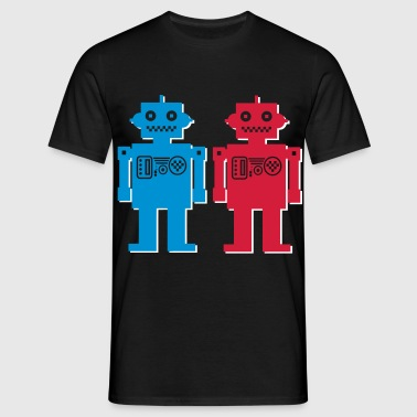 retro robot couple - Men's T-Shirt