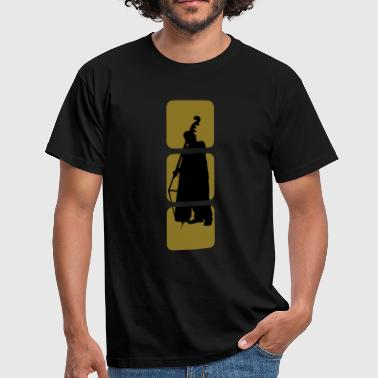 Bass shows you double bassist, musician, musical instruments bass motif Bank.  - Men's T-Shirt