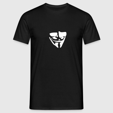 Guy Fawkes / Anonymous mask - Men's T-Shirt