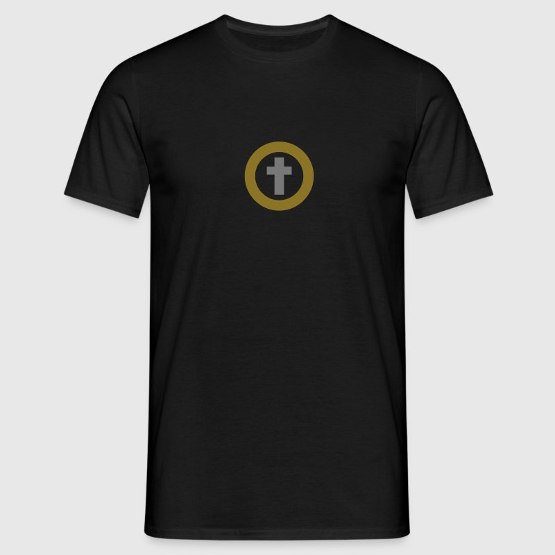 kredsede kryds / circled cross (rel, 2c) - Herre-T-shirt