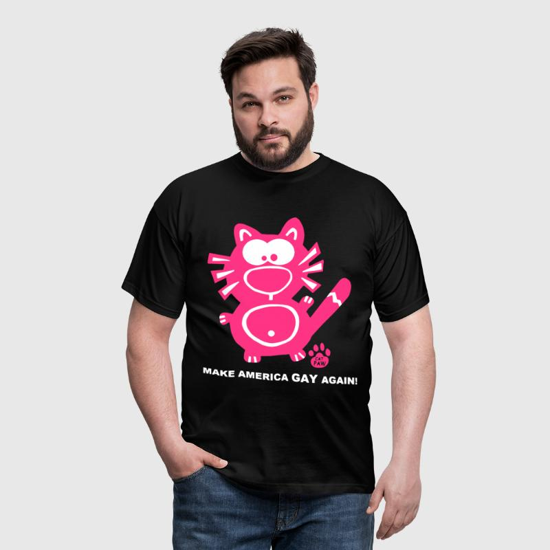 Make America Gay Again Catpaw Design - T-shirt Homme