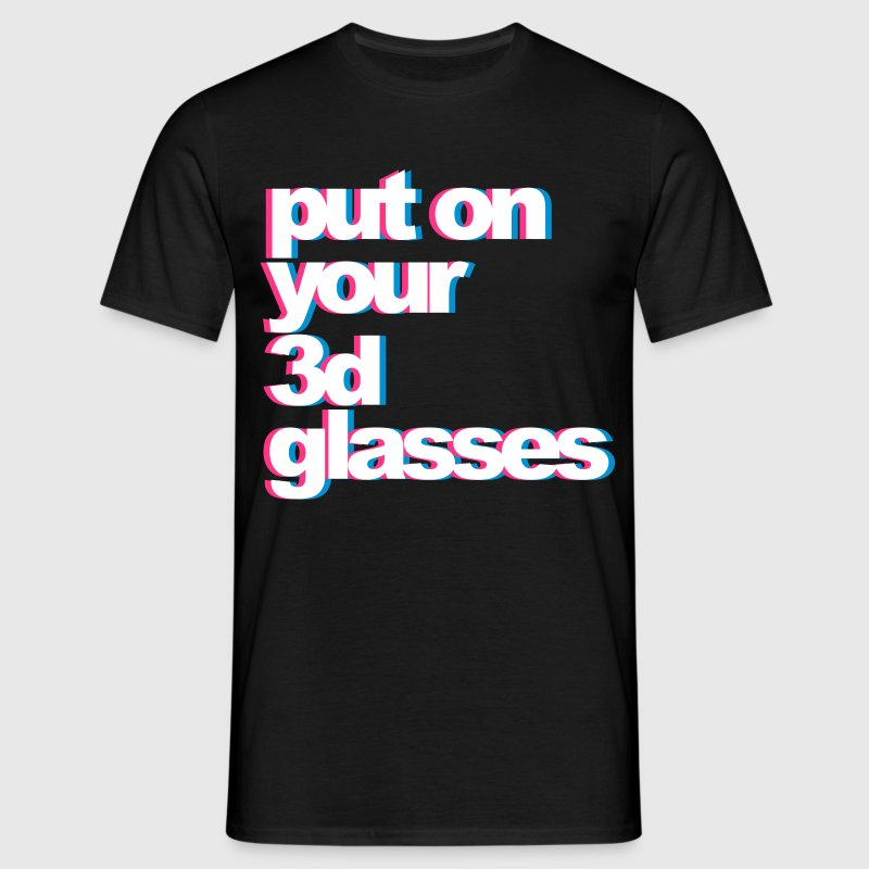 3D Glasses - T-shirt Homme