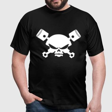 skull, skull skull and piston - Men's T-Shirt