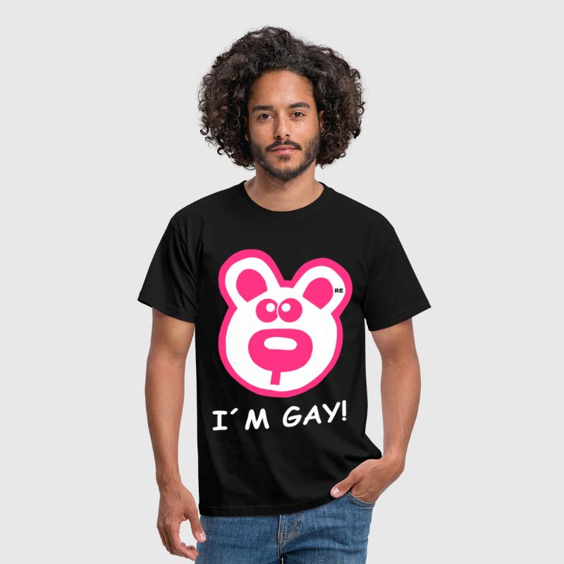 I´m gay Statement Bear Bears Teddy Bär Männer - Maglietta da uomo
