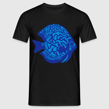 discus fish vektor - Men's T-Shirt
