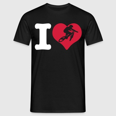 i love mountain biking - Men's T-Shirt