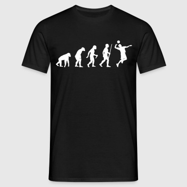 Volleyballer Evolution - Mannen T-shirt