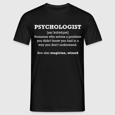 Psychologist - wizard - Männer T-Shirt