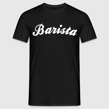 barista cool curved logo - Men's T-Shirt