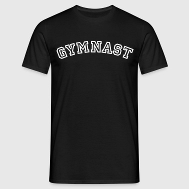 gymnast curved college style logo - Männer T-Shirt