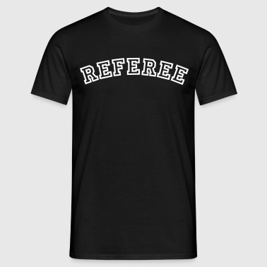 referee curved college style logo - Men's T-Shirt
