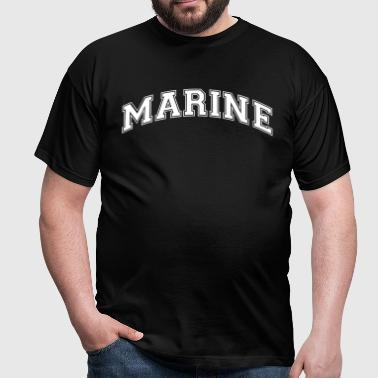 marine college style curved logo - Men's T-Shirt