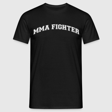 mma fighter college style curved logo - Männer T-Shirt