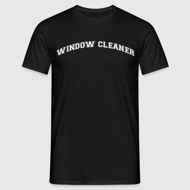 window cleaner college style curved logo - Men's T-Shirt