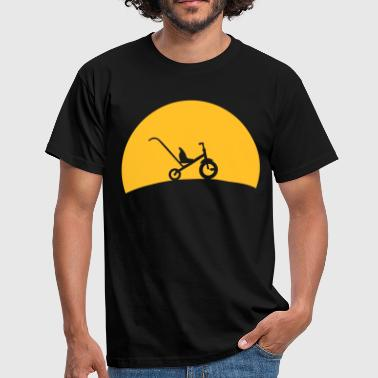 Tricycle i solnedgangen  - Herre-T-shirt