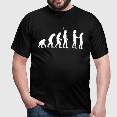 Evolution police with helmets arrest  - Men's T-Shirt
