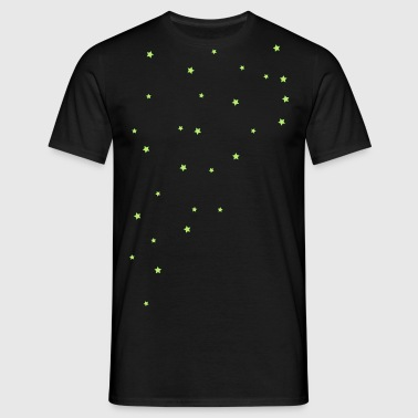 Star, star mönster - T-shirt herr