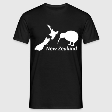 New Zealand - Map & Kiwi - Männer T-Shirt