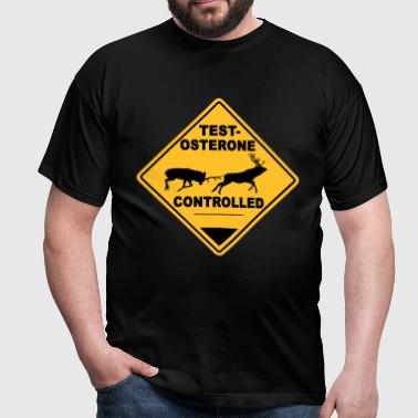 Testosterone controlled - Mannen T-shirt