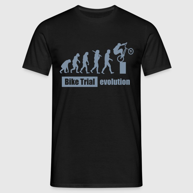 Bike Trial Evolution, mit Text - Männer T-Shirt
