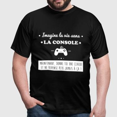 La console,geek,gamer,gaming - T-shirt Homme