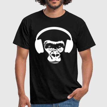 Chimp with headphones - Männer T-Shirt