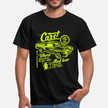 Bikes And Cars Collection Cars - Men's T-Shirt