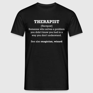 Therapist - wizard - Männer T-Shirt