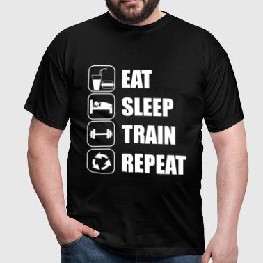 Eat Sleep Train Repeat - Männer T-Shirt