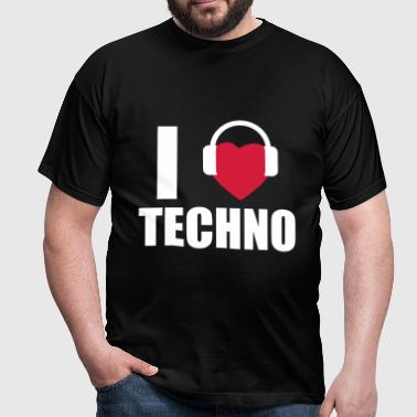 I LOVE TECHNO 1 - Männer T-Shirt