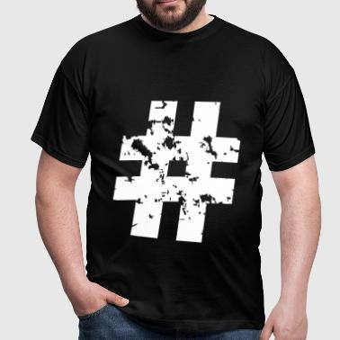 Hashtag (Grunge) - Men's T-Shirt