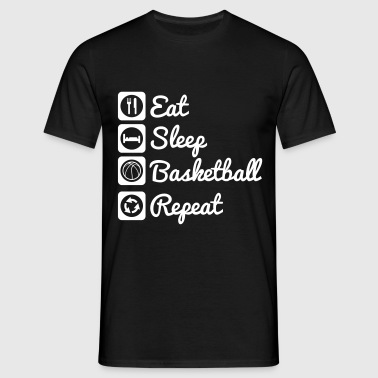 Eat sleep basketball - T-shirt herr