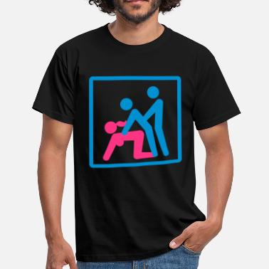 Bisexual Couples Kamasutra - Menage a Trois (FMM) - Men's T-Shirt