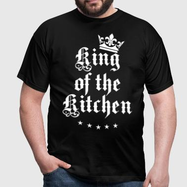 05 King of the Kitchen Cook Koch Krone Crown 1c - Männer T-Shirt