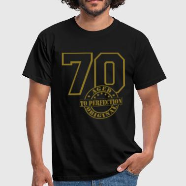 70 Aged to Perfection - Männer T-Shirt