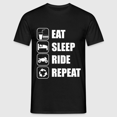 eat sleep ride - Camiseta hombre