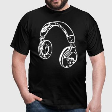 Headphone - Männer T-Shirt