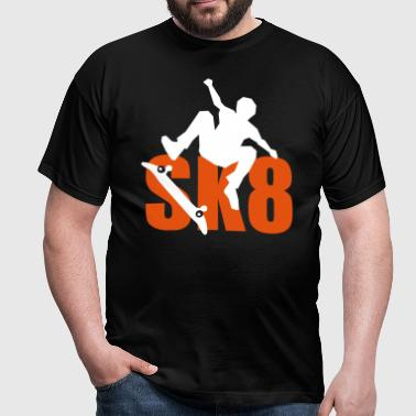 Skateboard SK8 power - Männer T-Shirt