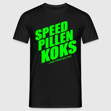 speed_pillen_koks - Männer T-Shirt