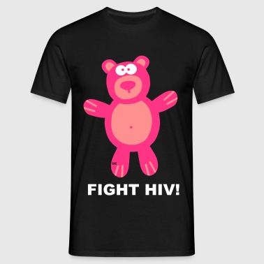 Bär Bärchen Teddy Fight Fuck HIV Aids Statement - Camiseta hombre
