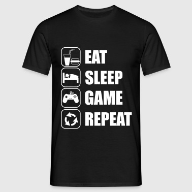 eat sleep game geek - Gaming Nerd - Camiseta hombre